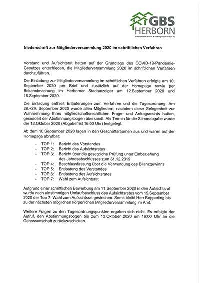 GBS Herborn - Geschäftsbericht 2019